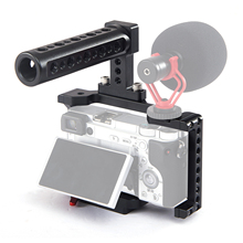 Andoer Camera Cage Video Stabilizer with Detachable Quick Release Plate Cold Shoe Mount for Sony A6500/A6400/A6300/NEX7 Camera