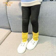 Детские Бархатные леггинсы в Корейском стиле осенне зимние брюки