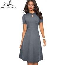 Nice tenue dété de couleur Pure avec trapèze, robe pour femmes rétro Vintage élégante, A199