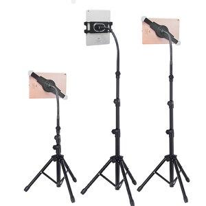 Regulowany Tablet statyw stojak podłogowy uchwyt na Tablet 5-12.9 Cal Tablet telefon wsparcie stojak trójnóg do montażu na ipada Air Pro 12.9