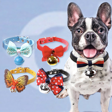 Easy Wear Cat Dog Collar With Bell Adjustable  Puppy Pet Supplies Accessories Small Chihuahua