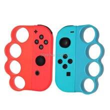 Nintention Switch boxe Fitness sangle boxe poignée poignée pour Nintendo Switch NS boxe améliorer lexpérience de jeu (rouge + bleu)