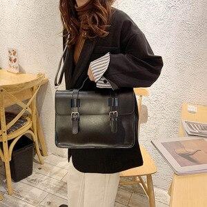 Image 5 - Luxury Women Crossbody Bag Female 2019 New Korean Fashion Shoulder Bag Ladies Trend big Buckle Messenger Bag Handbag