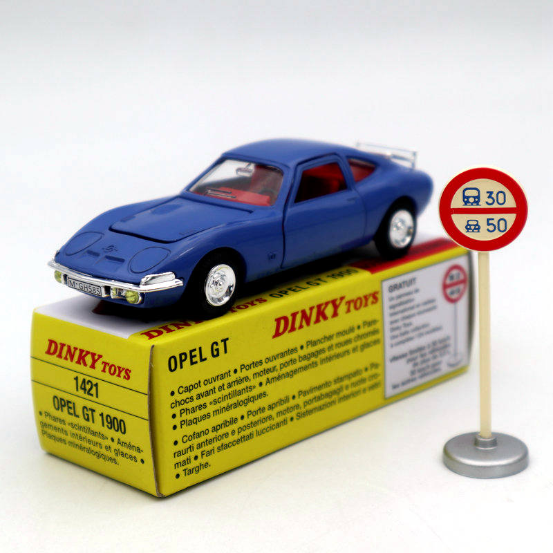 1/43 Atlas Dinky Toys 1421 Opel GT 1900 Diecast Models Car Collection