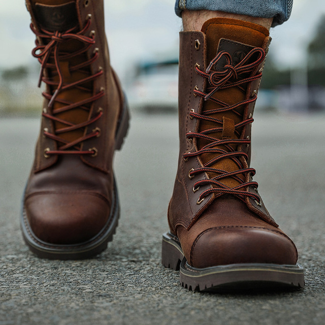 Hiking shoes Men Hunting Boots Tactical shoes Desert Combat Ankle Waterproof sneakers Leather Snow walking high-top Women's shoe 1