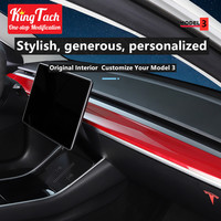 Dashboard Panel Trim For Tesla Model 3 Instrument Outlet High Quality ABS Sticker Car modified interior accessories decoration