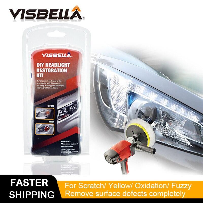 Visbella รถไฟหน้าซ่อมไฟหน้าขัด Renewal Agent Bright สีขาวสำหรับ Toyota ทำความสะอาดไฟหน้ามือเครื่องมือ-ใน ชุดเครื่องมือช่าง จาก เครื่องมือ บน title=
