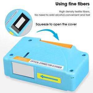 Image 2 - AUA 550 limpiador de conectores de fibra óptica/Conector de fibra Cassette de limpieza, 500 veces limpiador de Cassette caja de limpieza de fibra óptica