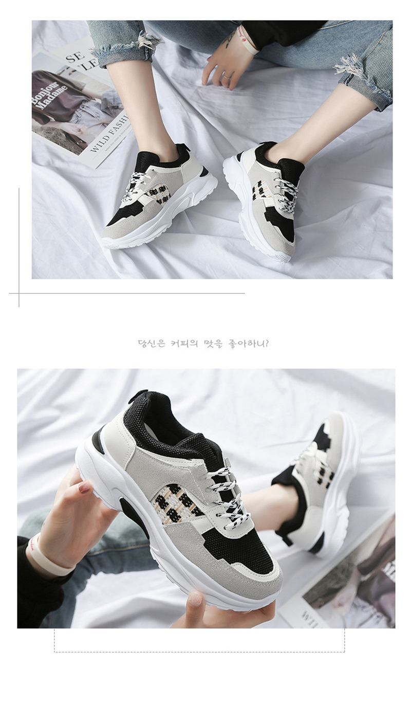 Spring Summer New Fashion Women's Vulcanize Shoes Casual Platform Increased Women Shoes Sneakers Casual Shoes Women VT611 (6)