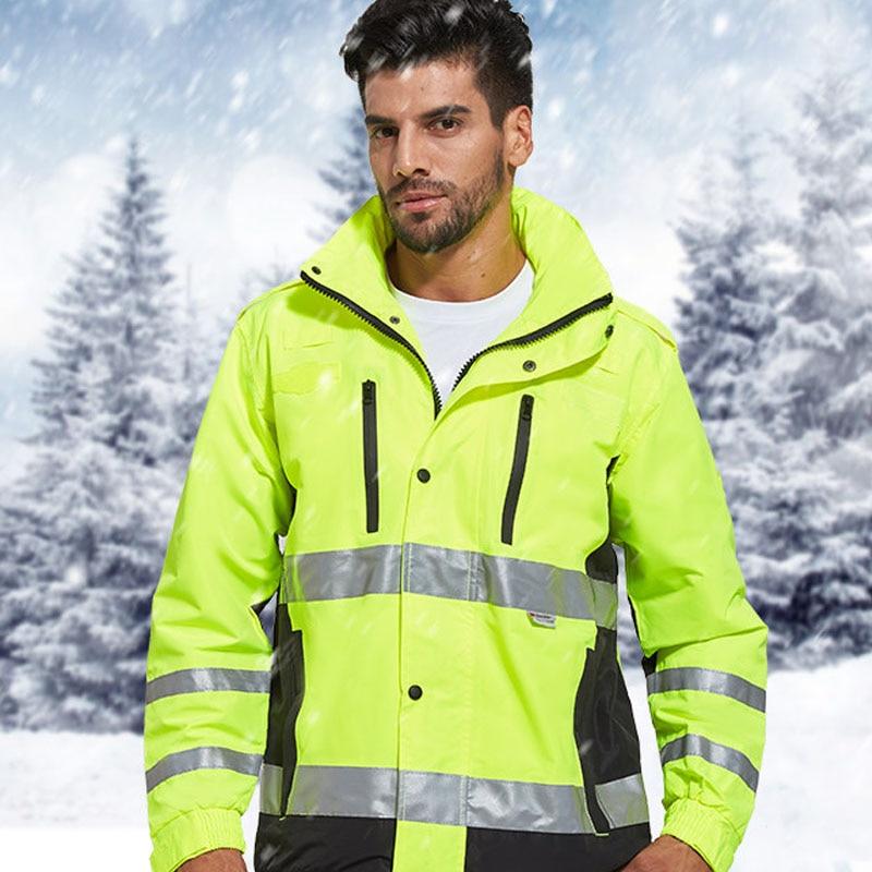 safety equipment work wear safety clothing work jacket uniform work clothes men thicken oxford waterproof/windproof/snow-proof