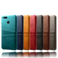 Dla Xiaomi Mi 5X 6X A1 A2 Mi5 Mi6 5s plus gniazdo na kartę pokrywa PU skóra + PC tylne obudowy dla Xiaomi 8 9 se Max 3 2 Mix 2s Poco F1 Capa