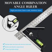 Measuring-Tools Workshop Square Aluminium-Combination Precise 300mm 12-Hardware Angle-Spirit-Level
