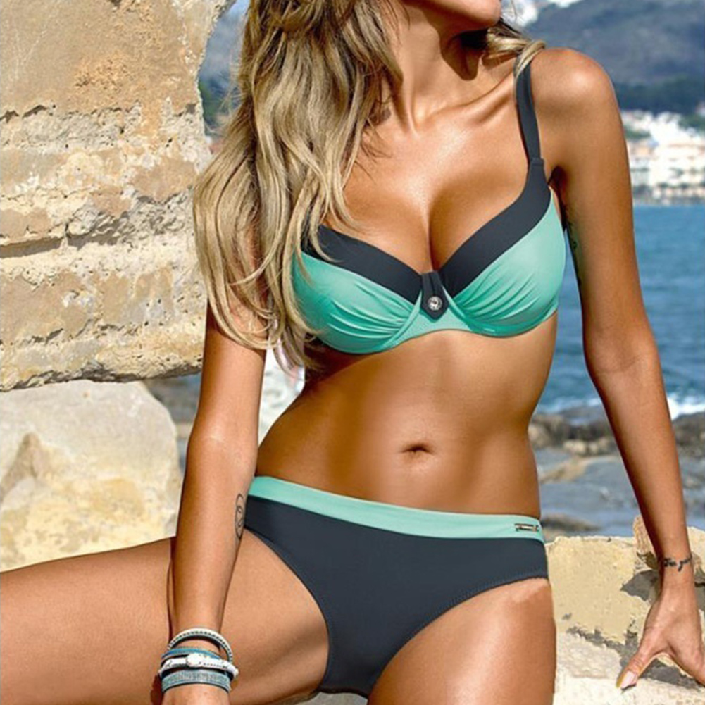 Women Summer Bikinis Beach Sexy Push-Up Plus Size Female Swimwear Set Bathing Suit Woman Beachwear Biquini Swimsuit