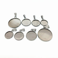 10pcs Stainless Steel Blank Cabochon Base Setting 8 10 12 14 16 18 20 25 30mm Fit DIY Necklace Pendant Jewelry Making Findings(China)