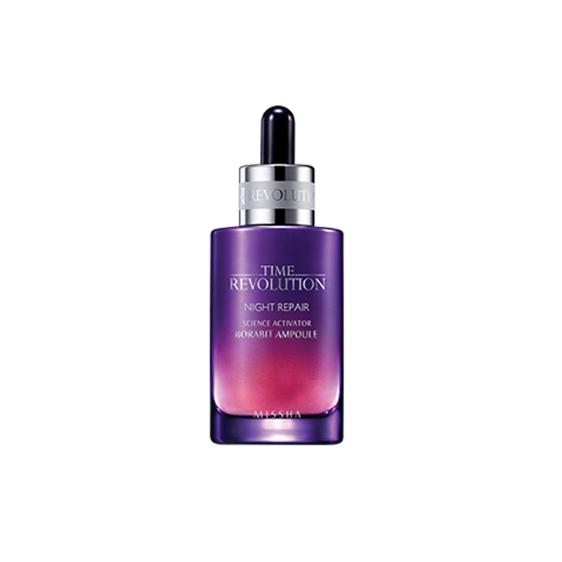 MISSHA Time Revolution Night Repair Borabit Ampoule 50ml Moisturizing Night Cream Anti-aging Facial Serum Whitening Essence