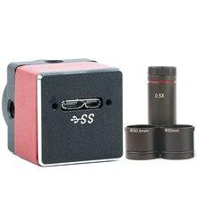 5.0MP промышленный видео микроскоп с цифровой камерой USB3.0 HD камера+ 30 мм/30,5 мм кольцо 0.5X микро адаптер C-MOUNT объектива