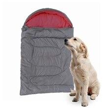 Спальный мешок для собак, мягкий флисовый зимний теплый спальный мешок для домашних животных, флисовый материал, для щенка, дивана, подушки для кошек, домик для питомцев, водонепроницаемый
