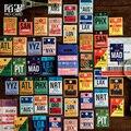 46 Teile/schachtel Vintage Stempel Ticket Papier Aufkleber Dekorative Tagebuch Sammelalbum Planer Aufkleber Kawaii Schreibwaren Schule Liefert