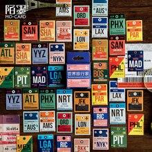 46 pçs/caixa vintage selo bilhete adesivo de papel decorativo diário scrapbook planejador adesivos kawaii artigos de papelaria material escolar