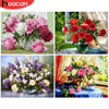 HUACAN Painting By Numbers Flower Hand Painted Drawing On Canvas Acrylic Pictures Home Decoration Gift