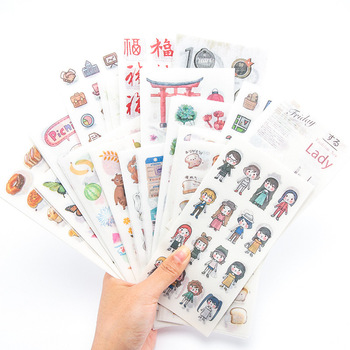 Stickers Aesthetic  Kawaii Cartoon Hand Account Japanese Paper Scrapbooking bullet journal Album Decorative Collage stationery