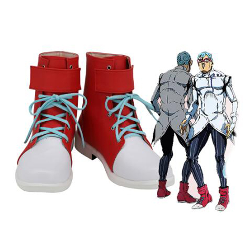 JoJo's Bizarre Adventure Ghiaccio Cosplay Boots Shoes Red Men Shoes Costume Customized Accessories Halloween Party Shoes