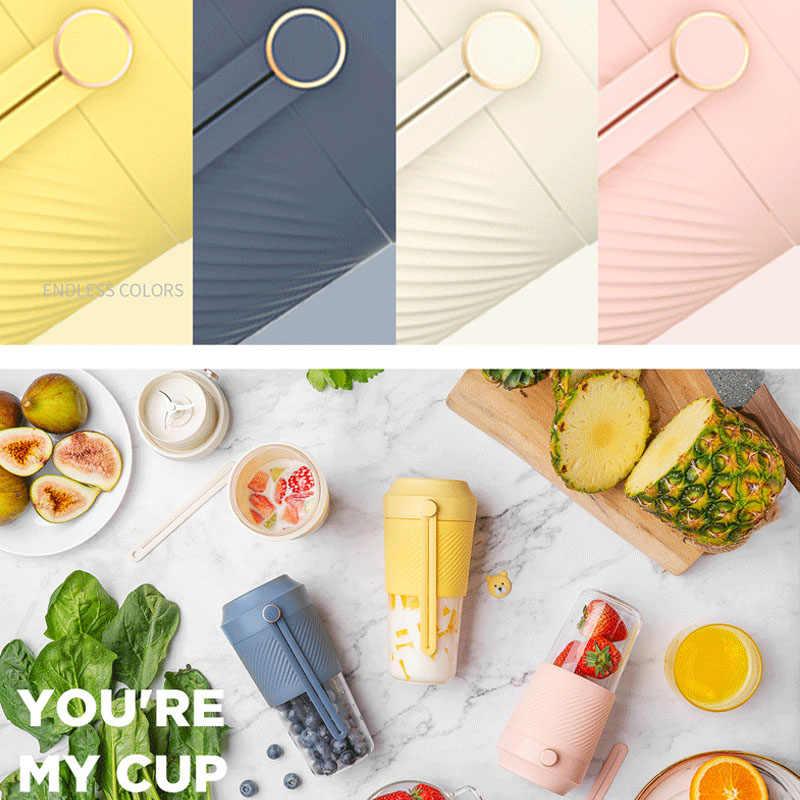 400ml BPA FREI Mini Entsafter Starke Leistung USB Rechargable Orange Lemon Fruit Squeezer Bleder Maschine Mixer Tragbare Saft Tasse