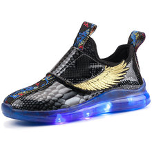 High Quality Brand New Children's Wing Light-emitting Shoes LED Lamp Shoes USB Charge Cross-border Specialized Boy Girl Shoes(China)