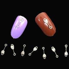 Серебристые украшения для дизайна ногтей металлические 3d Подвески