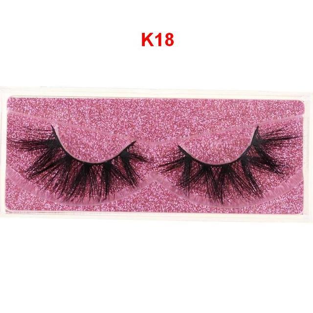Mink Eyelashes 3D Mink 100% Cruel Eyelashes Handmade Natural Reusable Small Eyelashes False Eyelash Makeup Eye 2