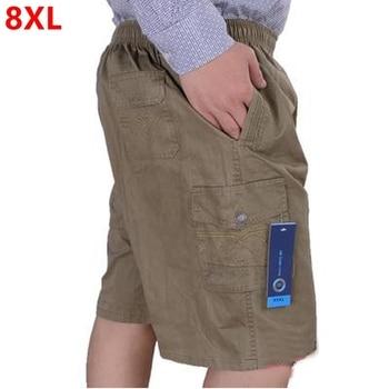 Big size men's summer casual Shorts plus size loose middle-aged oversized cotton 8XL 7XL 6XL Large size 11XL 12XL men shorts