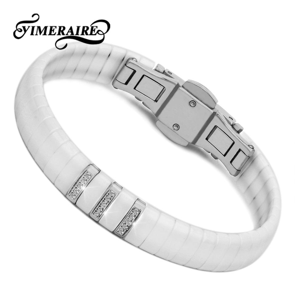 Classic Ceramic Women Bracelet For Women Crystal Jewelry Classic Black White Color Bangle & Bracelets Hand Bracelets For Gifts