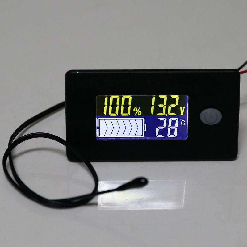 Универсальный литий-ионный Lifepo4 свинцово-кислотный индикатор емкости аккумулятора 10 В ~ 100 В постоянного тока с сигнальным термометром