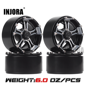 "INJORA 4PCS 171g/pcs Heavy RC Rock Crawler Metal 1.9"" BEADLOCK Wheel Rim for 1/10 Axial SCX10 90046 90047 D90 1"