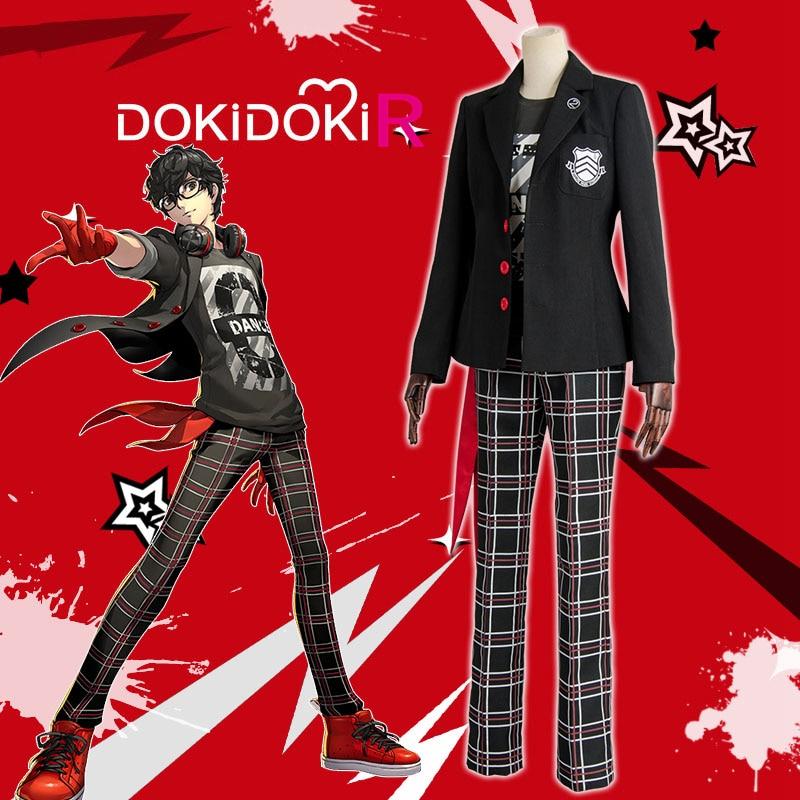 DokiDoki-R Game Persona 5 Cosplay Akira Kurusu JOKER Dancing in Starlight Costume Persona 5 Cosplay Costume Men  Akira Kurusu