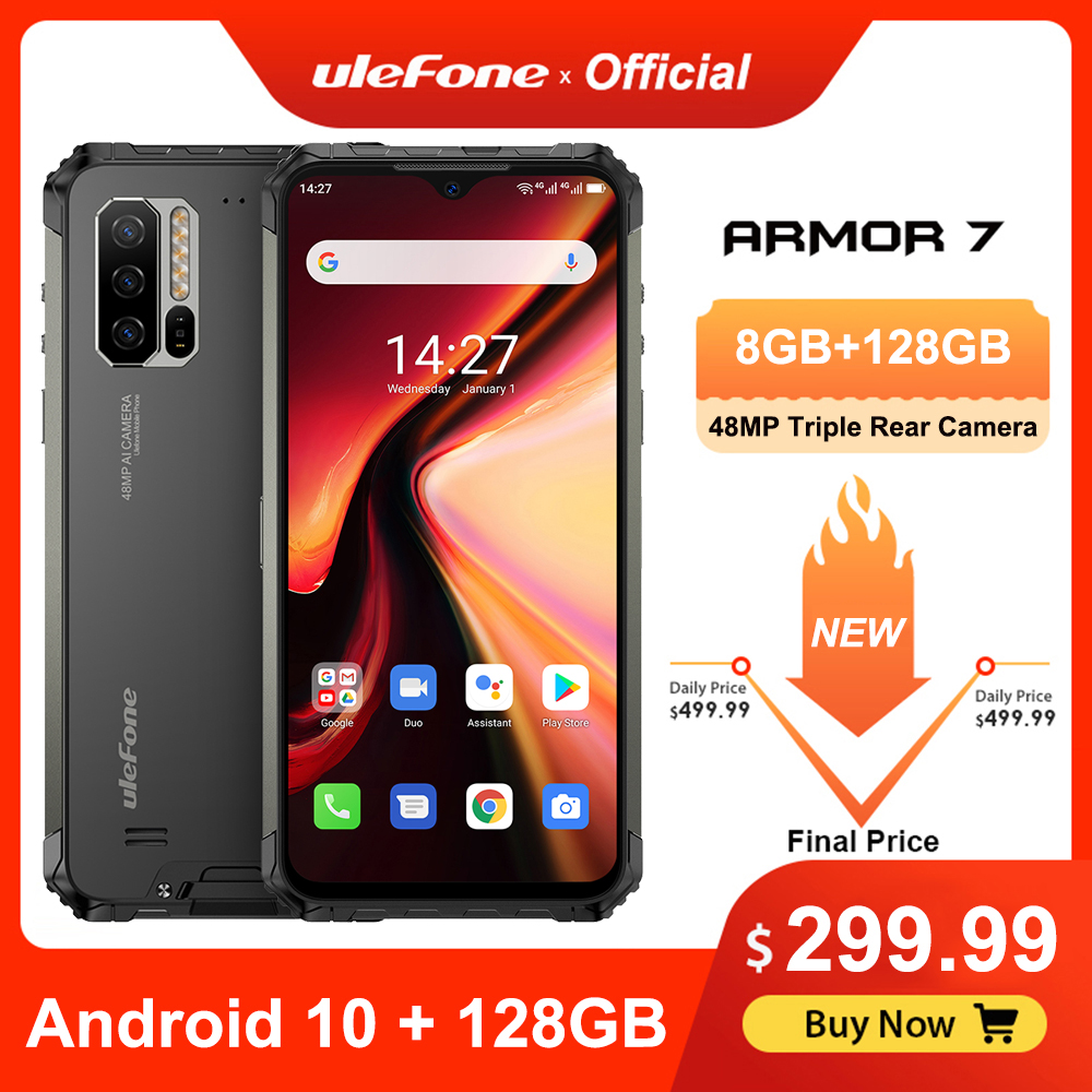 Ulefone Helio P90 Armor 7 Rugged 128GB LTE/CDMA2000/GSM/.. Nfc Adaptive Fast Charge Wireless Charging