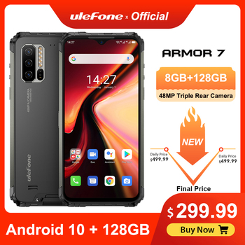 Ulefone Armor 7 Rugged Mobile Phone Android 10 Helio P90 8GB+128GB 2.4G/5G WiFi IP68 48MP CAM 4G LTE Global Version Smartphone lenovo s60 w 4g lte 5 0inch android 4 4 2gb 8gb smartphone 13 0mp