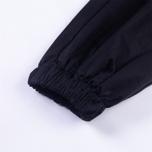 Image 5 - Vangull harajuku zipper streetwear women casual harem pants with chain New solid black pant cool fashion hip hop long trousers