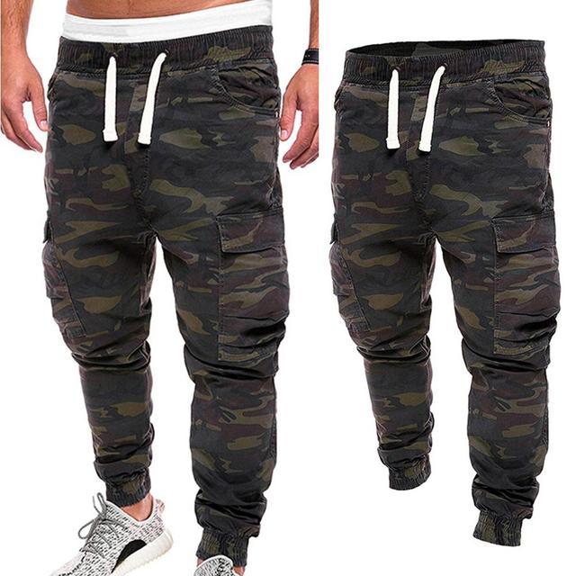 De talla grande de los hombres pantalones de camuflaje militar pantalones Multi bolsillos de carga pantalones de jogging ropa Streetwear Pantalones 2