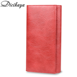 Image 3 - Dicihaya 本革の女性の財布ロング財布蝶エンボス財布女性カードホルダー carteira feminina 電話バッグ