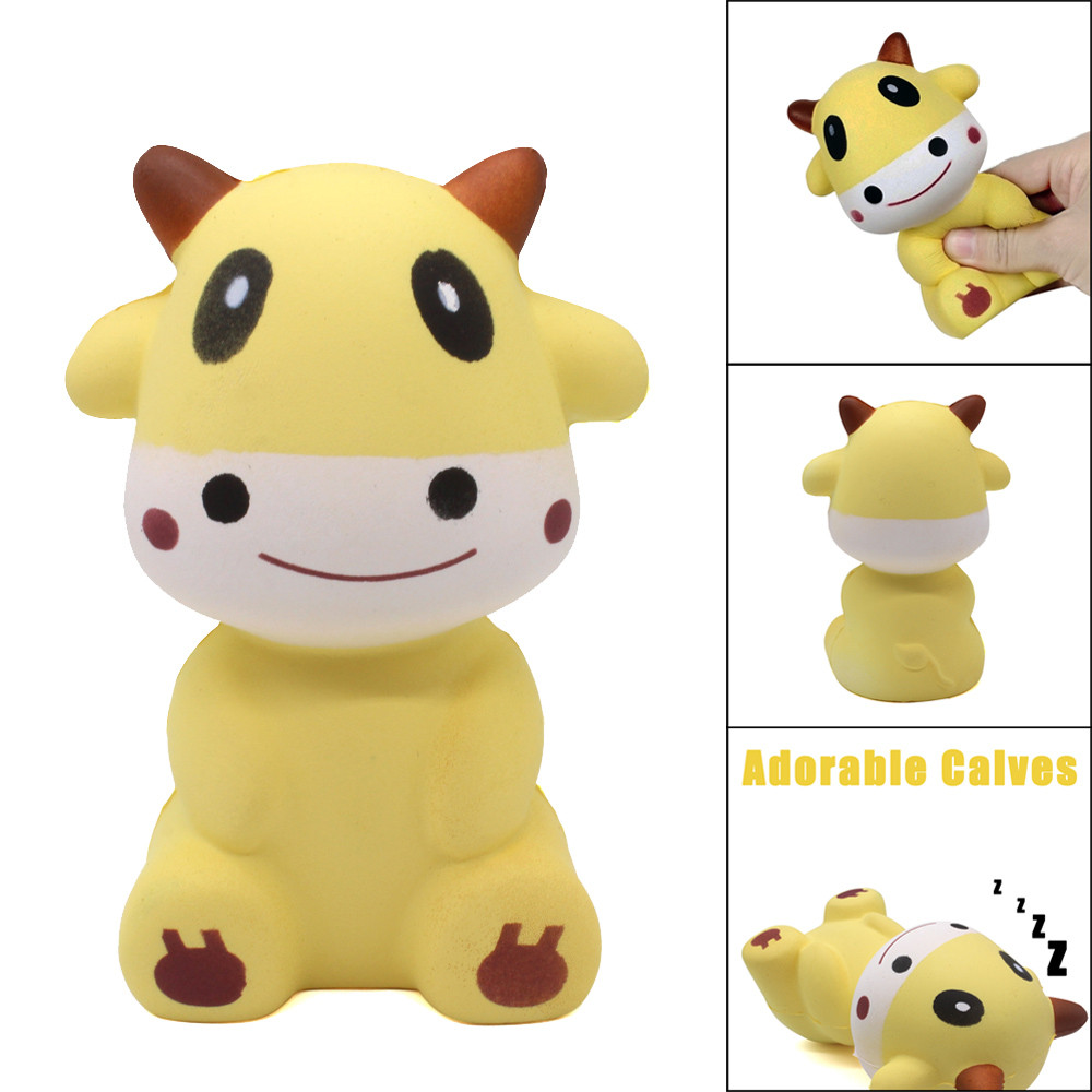 Squishies Adorable Calves Scented Cream Slow Rising Squeeze Stress Reliever Toy