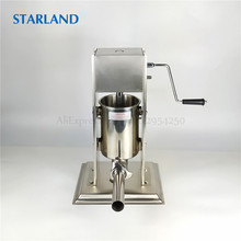 Commercial Churros Extruder 3L Spain Donuts Machine Stainless Steel Sausage Stuffer Latin Fruit Maker Vertical Sausage Filler цена 2017