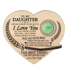 Clock To Wooden Table-Decorative-Accessory Text Graduation-Gifts Birthday Daughter Personalized