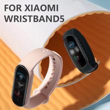 Inteligentny zegarek dla Xiaomi Mi Band 5 bransoletka pasek Miband wymiana silikonowy pasek opaska na nadgarstek do Xiaomi Band 5 akcesoria Dropship tanie tanio centechia Pasek na nadgarstek none Dla dorosłych Wszystko kompatybilny Smart strap