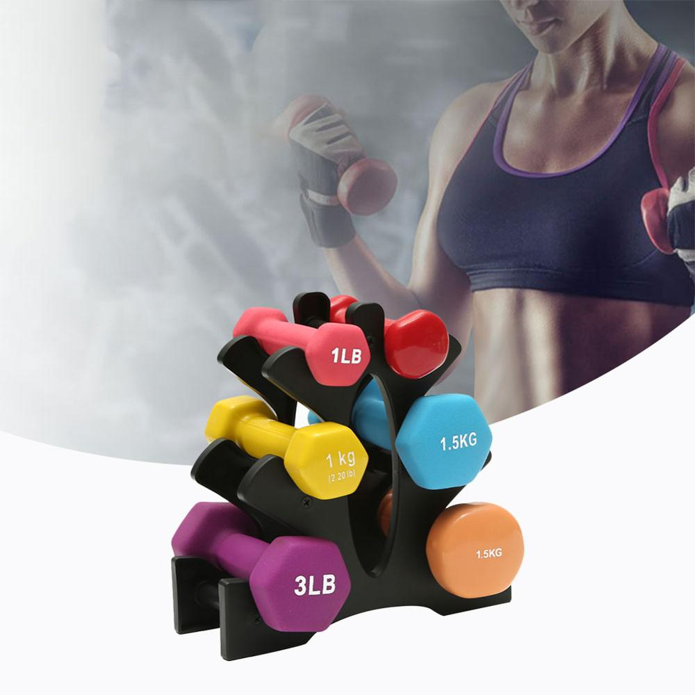Weightlifting Dumbbell Rack 3 Layer Compact Rugged Anti-wear Dumbbell Bracket Fitness Equipment Accessories For Household Use