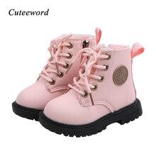 Toddler Girl Boots Winter Children Shoes Plus Velvet Warm Kids Martin B