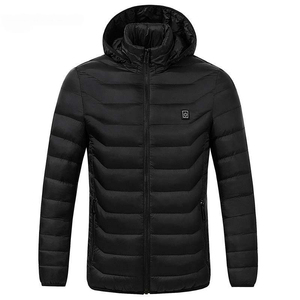 Image 4 - Winter Warm Hiking Jackets Men Women Smart Thermostat Hooded USB Heated Clothing Waterproof Windbreaker Men Black Fleece Jackets