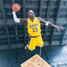 Jogador de basquete james 2k19 dunk pvc figura ação modelo brinquedo boneca presente 26cm