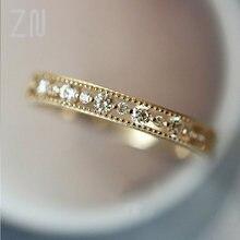 Zn Высокое качество Свадебные Кольца для женщин Простой полый