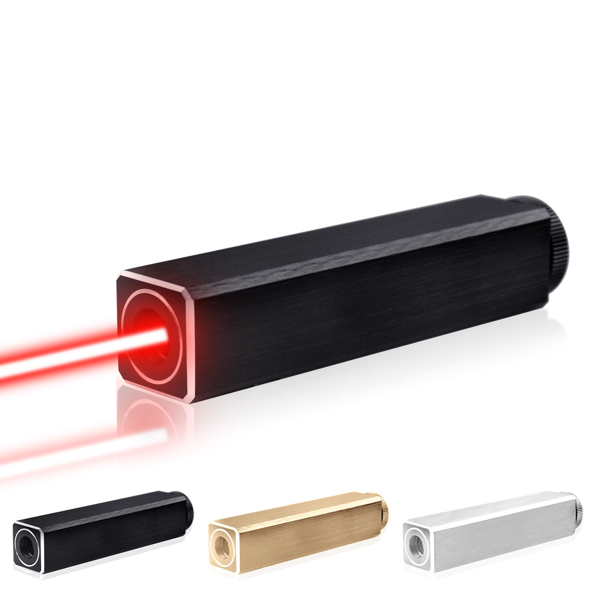 CWLASER 532nm vert/450nm bleu/405nm violet/650nm rouge pointeur Laser de forme carrée (3 couleurs) - 3